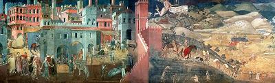 La città medievale rappresentata da Ambrogio Lorenzetti