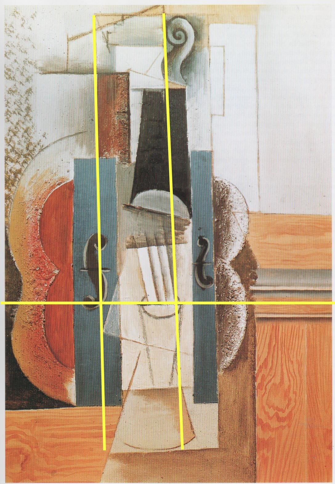 composizione cubista step 1