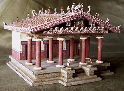 tempio etrusco ricostruzione modellino 3d b