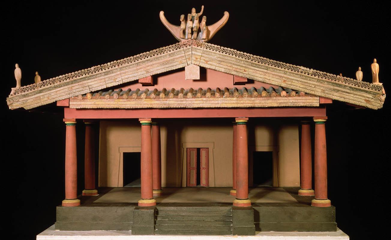 tempio etrusco ricostruzione modellino 3d