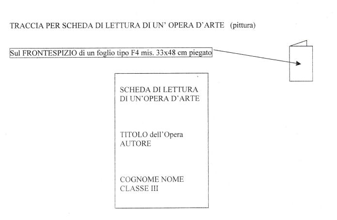 Photo of Protetto: Scheda di lettura ed analisi di un'opera d'arte.  (classe 3^)