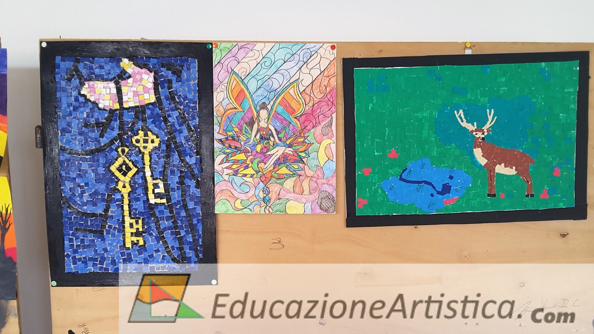 disegni simbologia paleocristiana a mosaico classi seconde chinaglia montagnana arte immagine-01