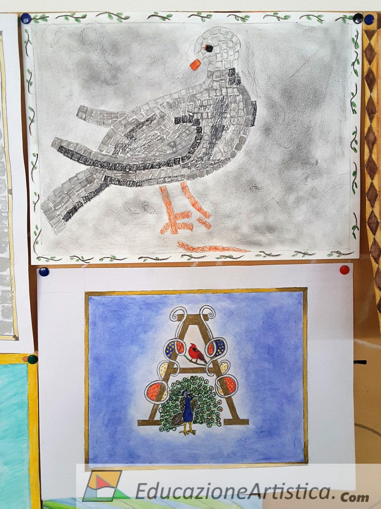 lavori classe seconde ics chinaglia montagnana arte immagine as 2018-19 – simbologia paleocristiana e capolettera miniato