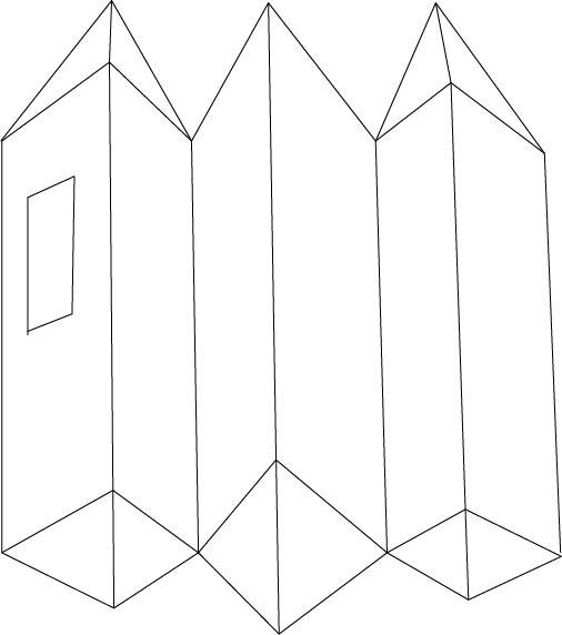 disegno tre torri 3D