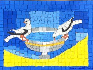 tecnica mosaico con tessere DAS, alberto scuola chinaglia montagnana arte
