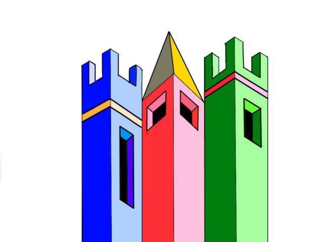 disegno arte -classe 2- tre torri 3d
